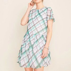 Ann Taylor Plaid Shift Dress
